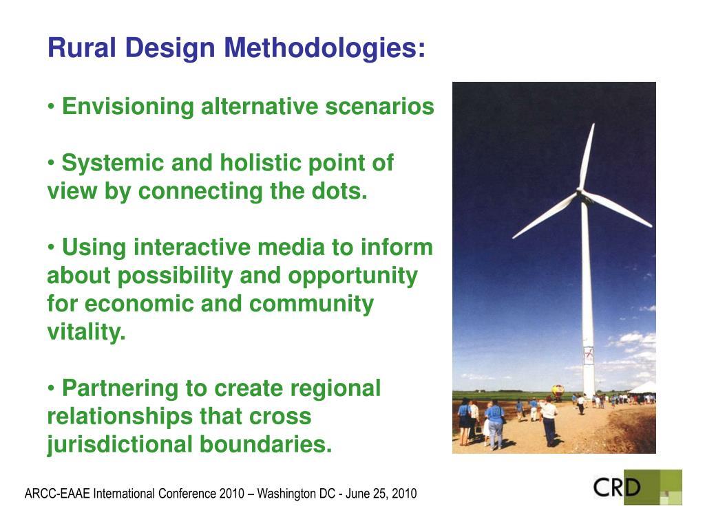 Rural Design Methodologies:
