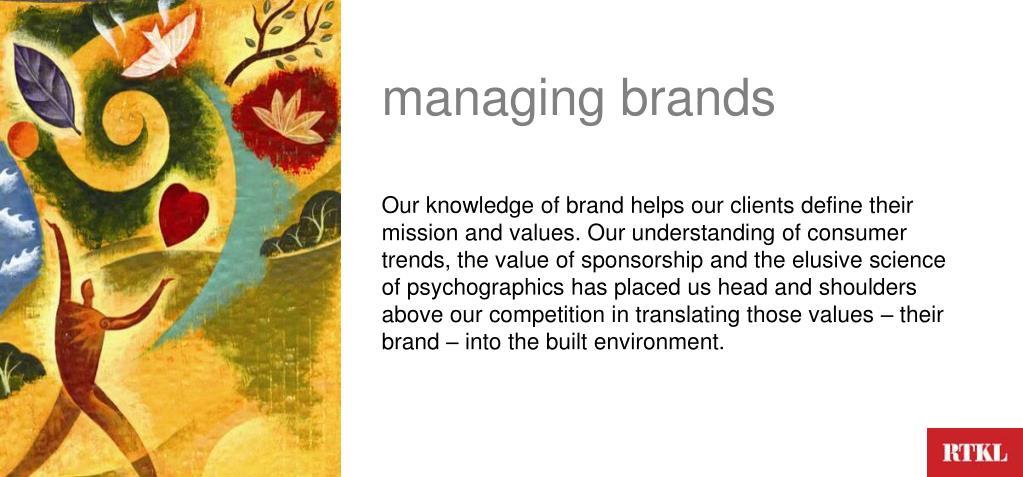managing brands