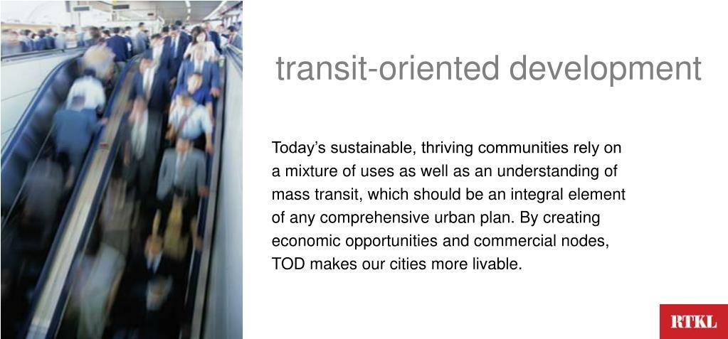 transit-oriented development