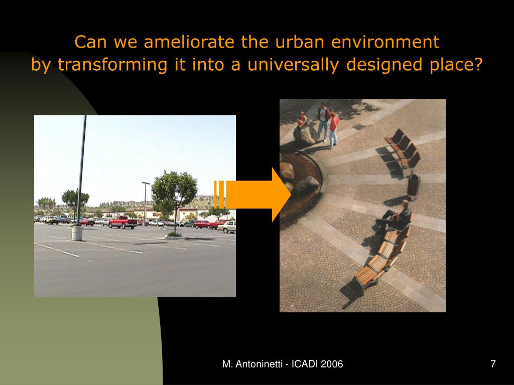 Can we ameliorate the urban environment