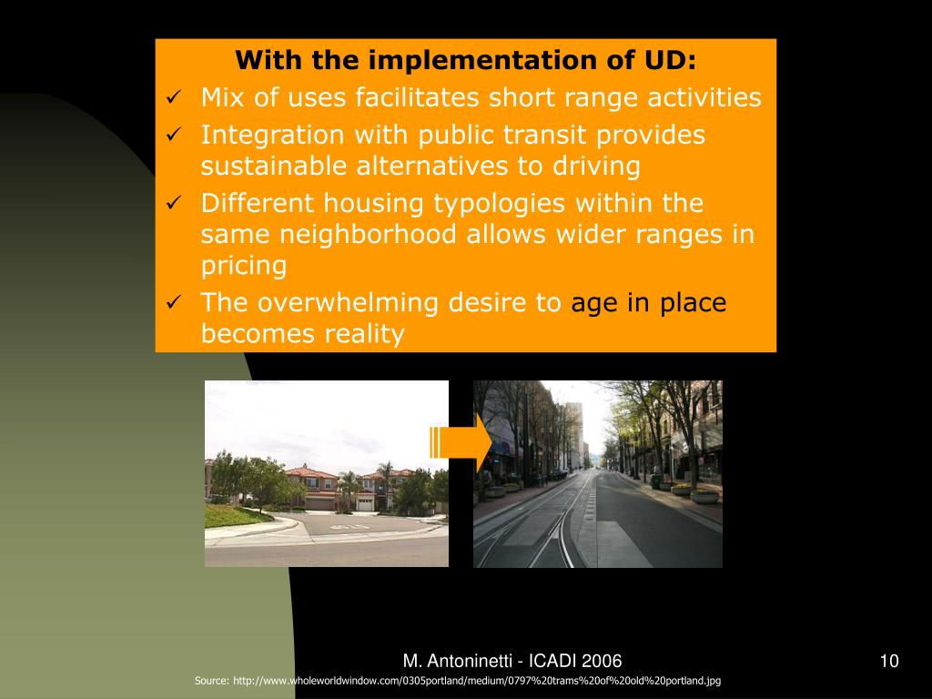 With the implementation of UD: