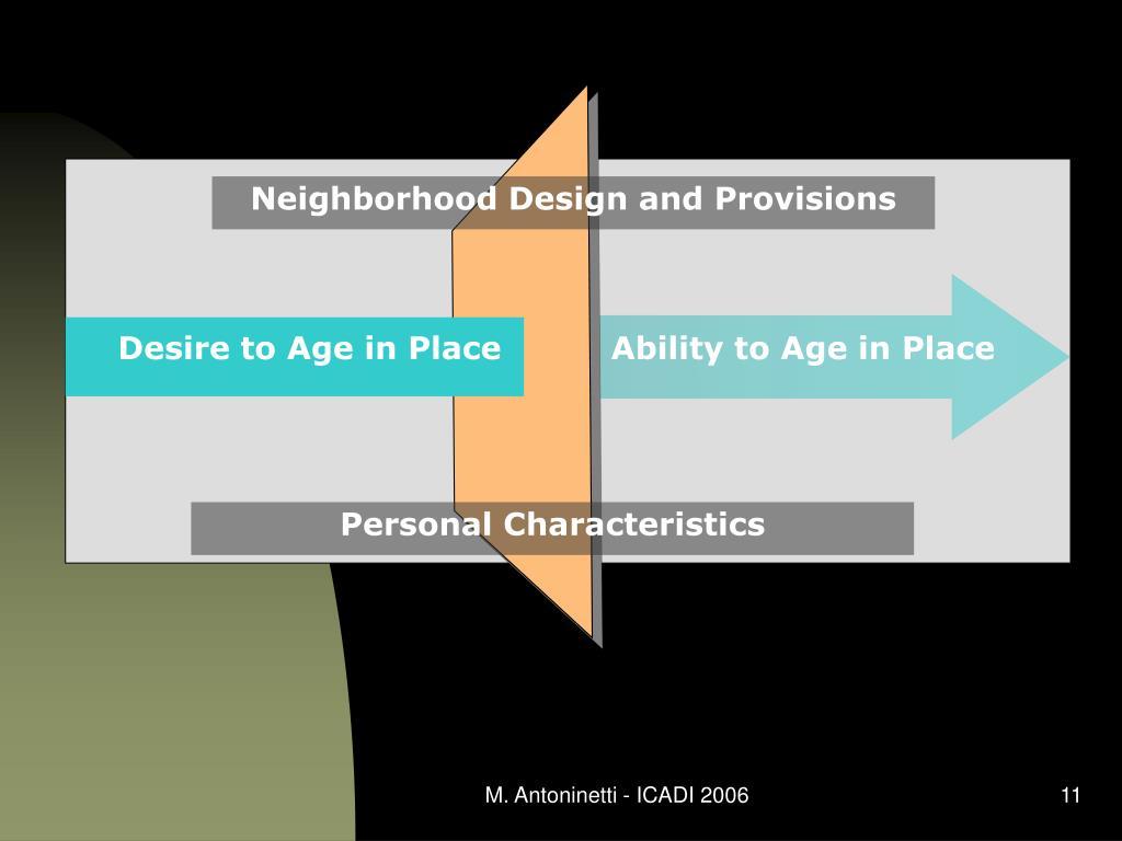 Neighborhood Design and Provisions