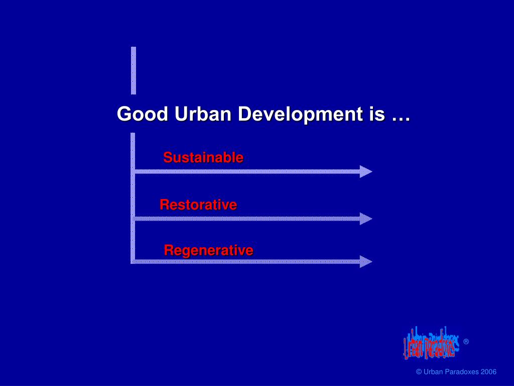 Good Urban Development is …