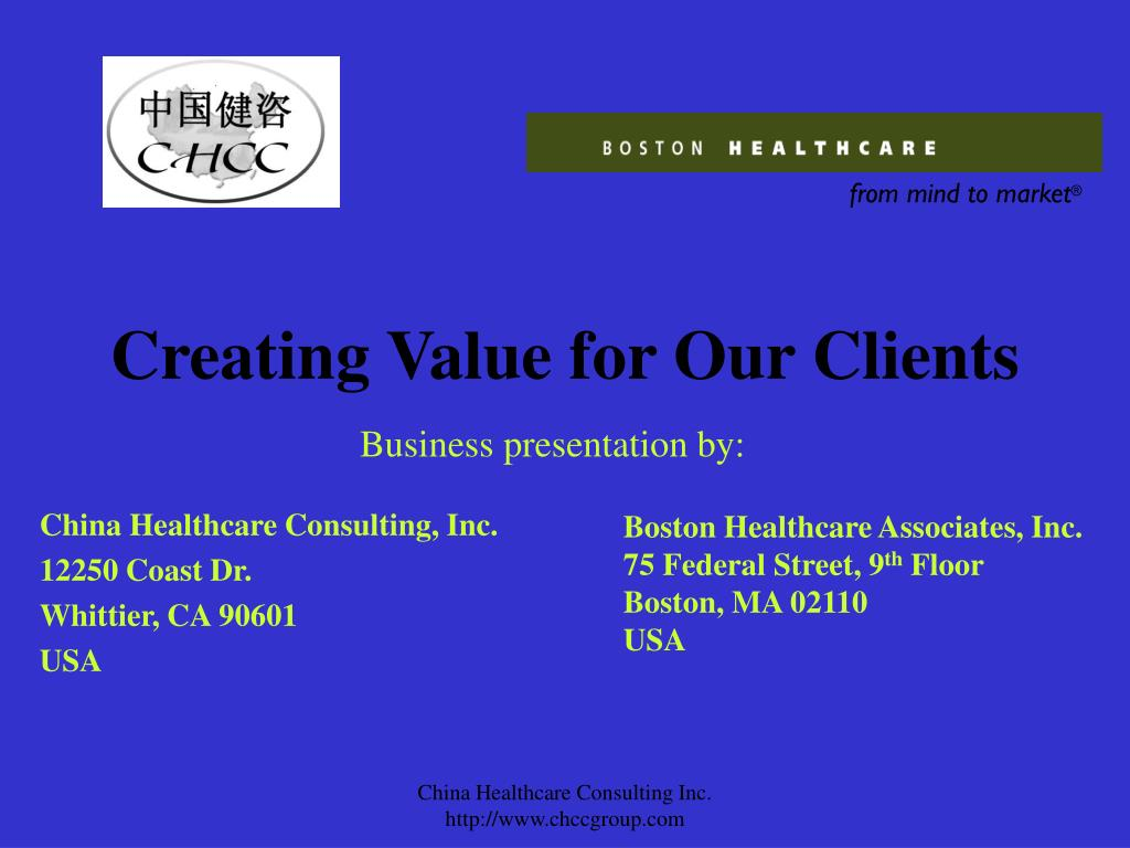 creating value for our clients l.