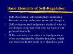 basic elements of self regulation