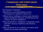competence and achievement motivation11