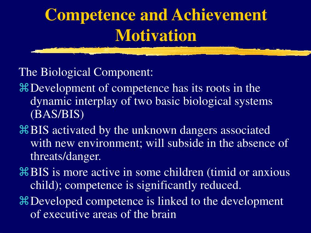 Competence and Achievement Motivation