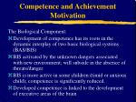competence and achievement motivation9