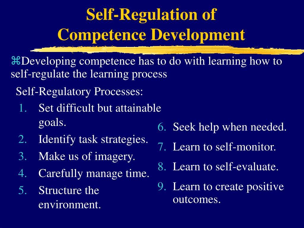 Self-Regulation of