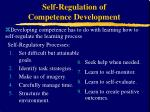 self regulation of competence development