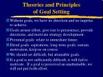 theories and principles of goal setting