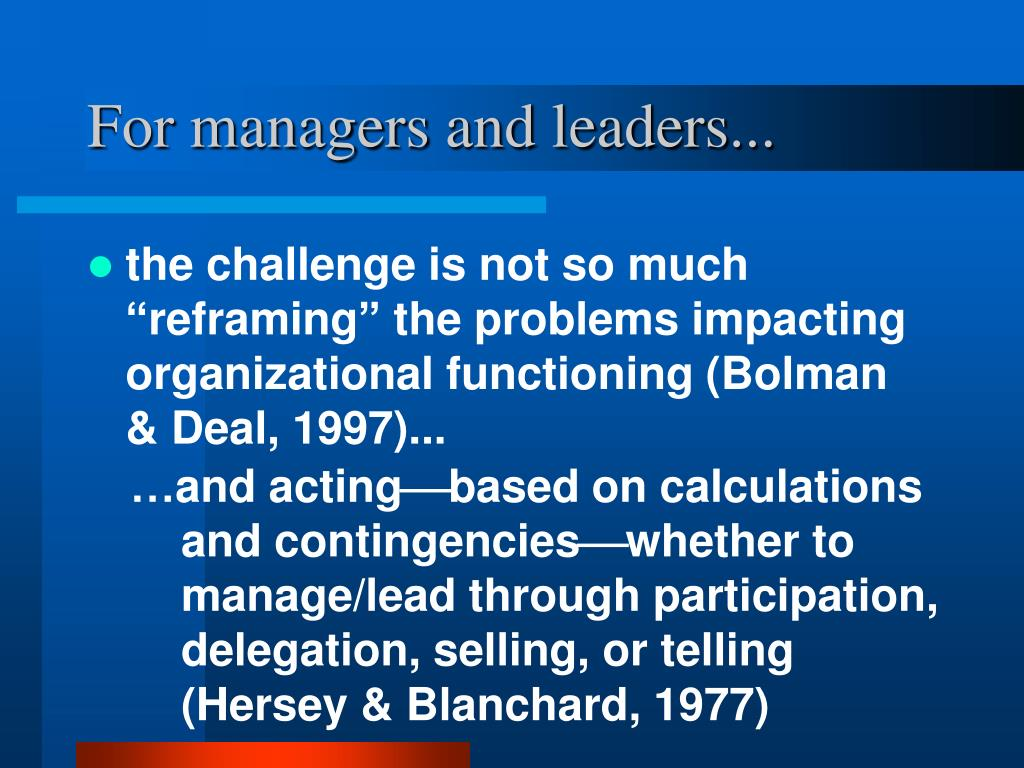 For managers and leaders...