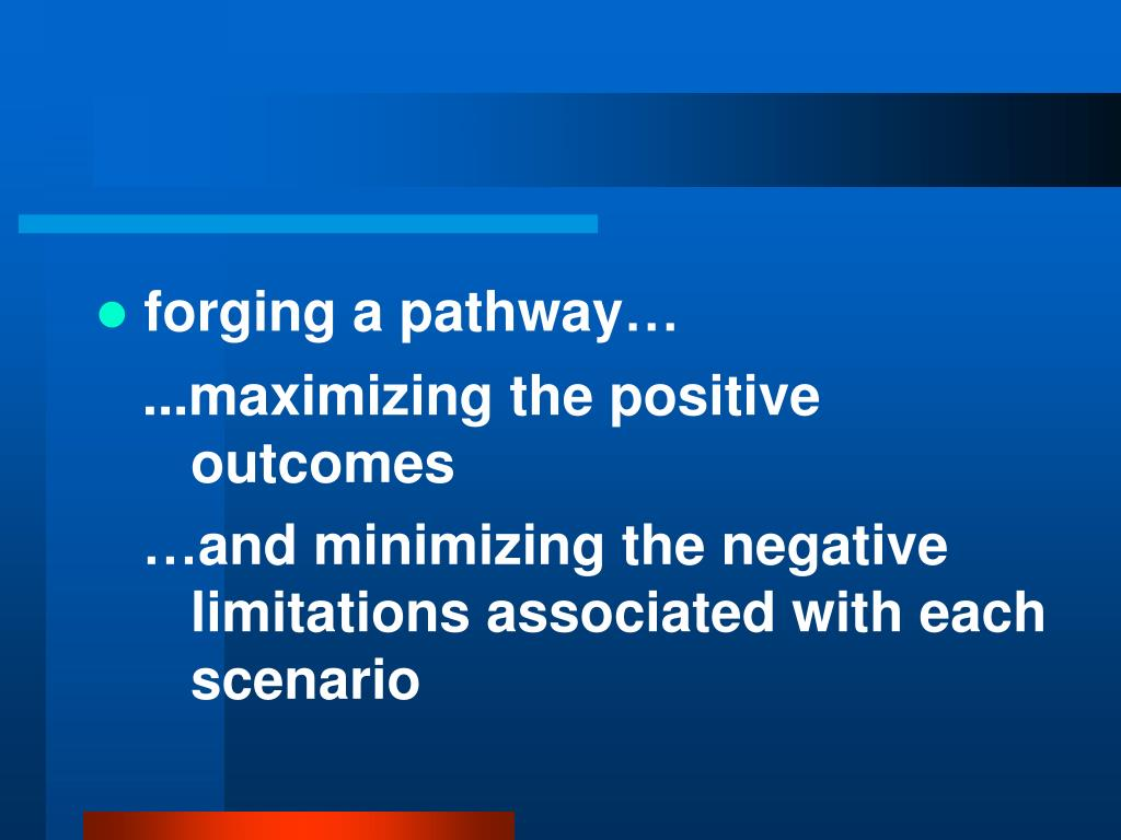 forging a pathway…