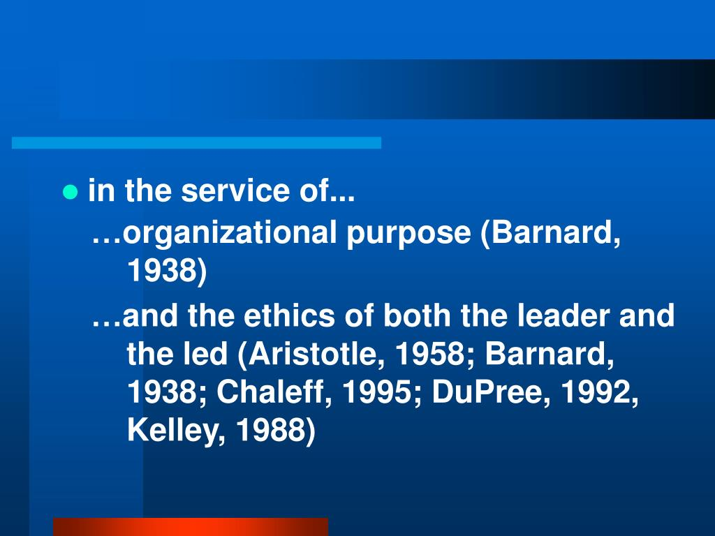 in the service of...
