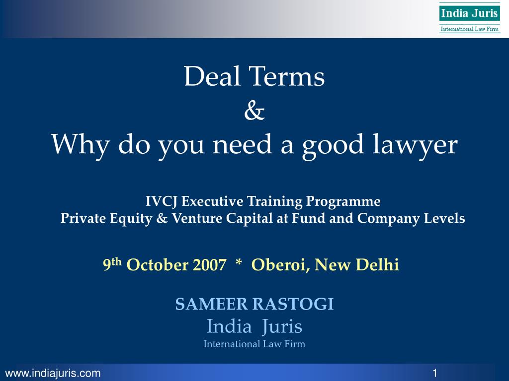 deal terms why do you need a good lawyer