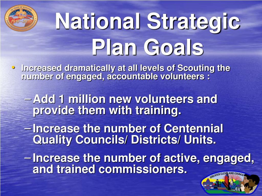 National Strategic Plan Goals