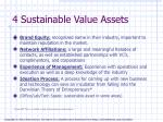 4 sustainable value assets