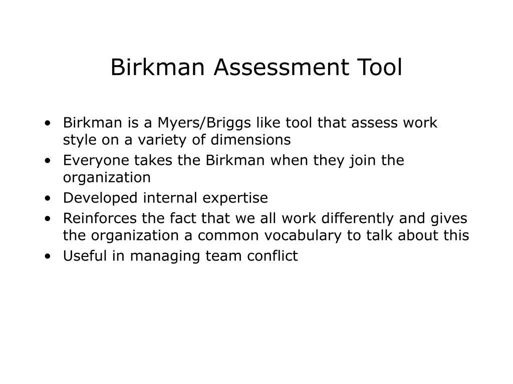 Birkman Assessment Tool