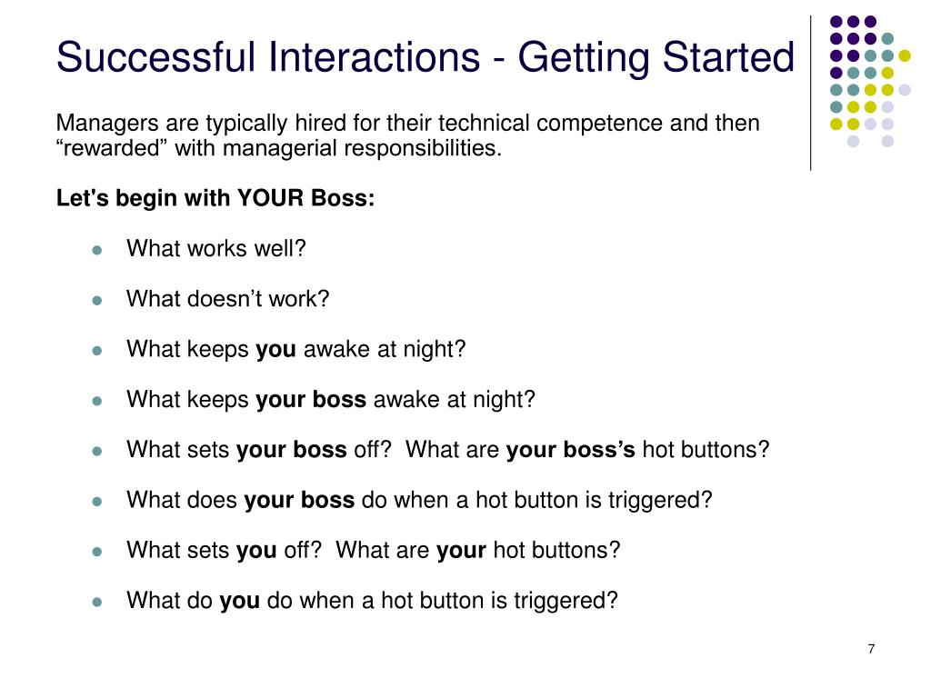 Successful Interactions - Getting Started
