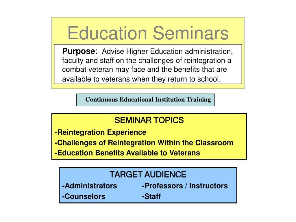 Education Seminars