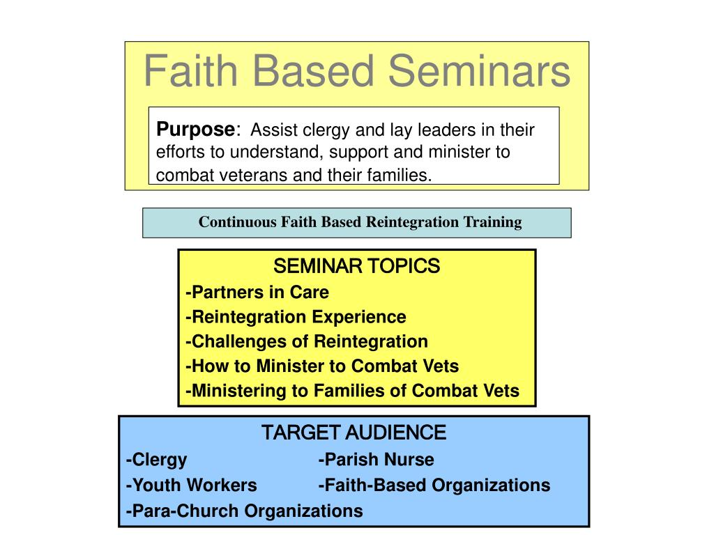 Faith Based Seminars