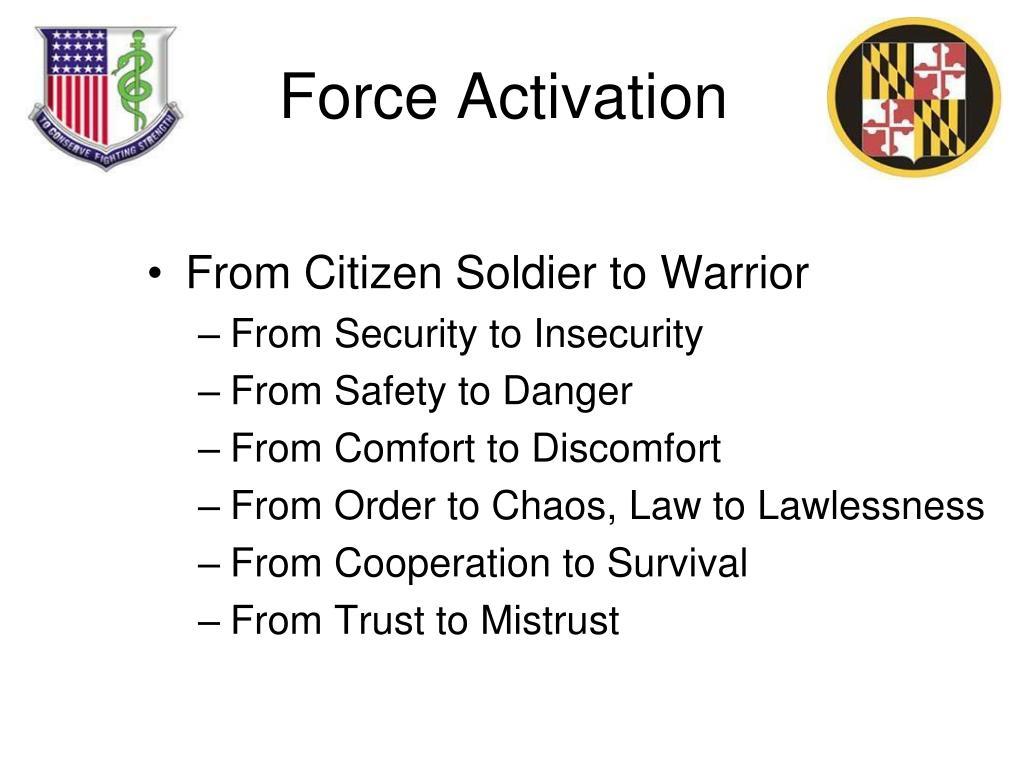 Force Activation