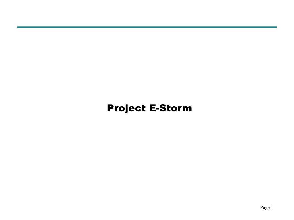 Project E-Storm
