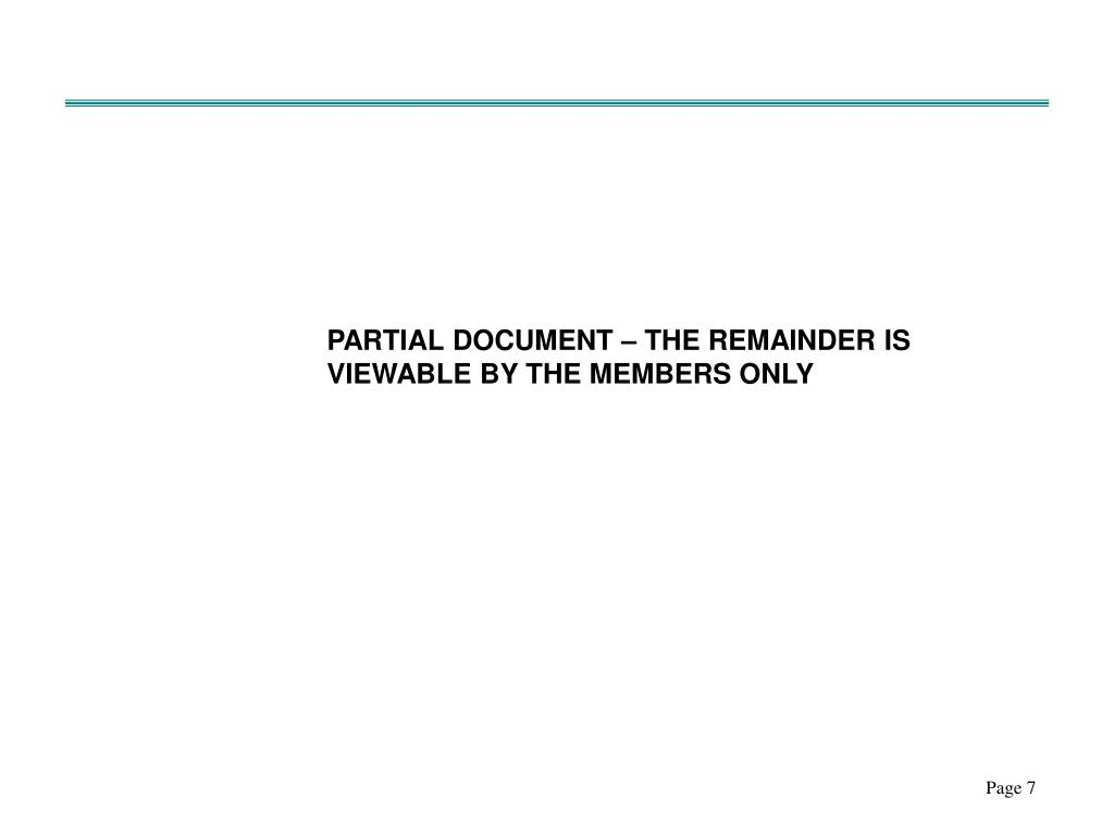 PARTIAL DOCUMENT – THE REMAINDER IS