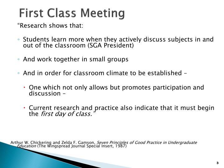 First class meeting3