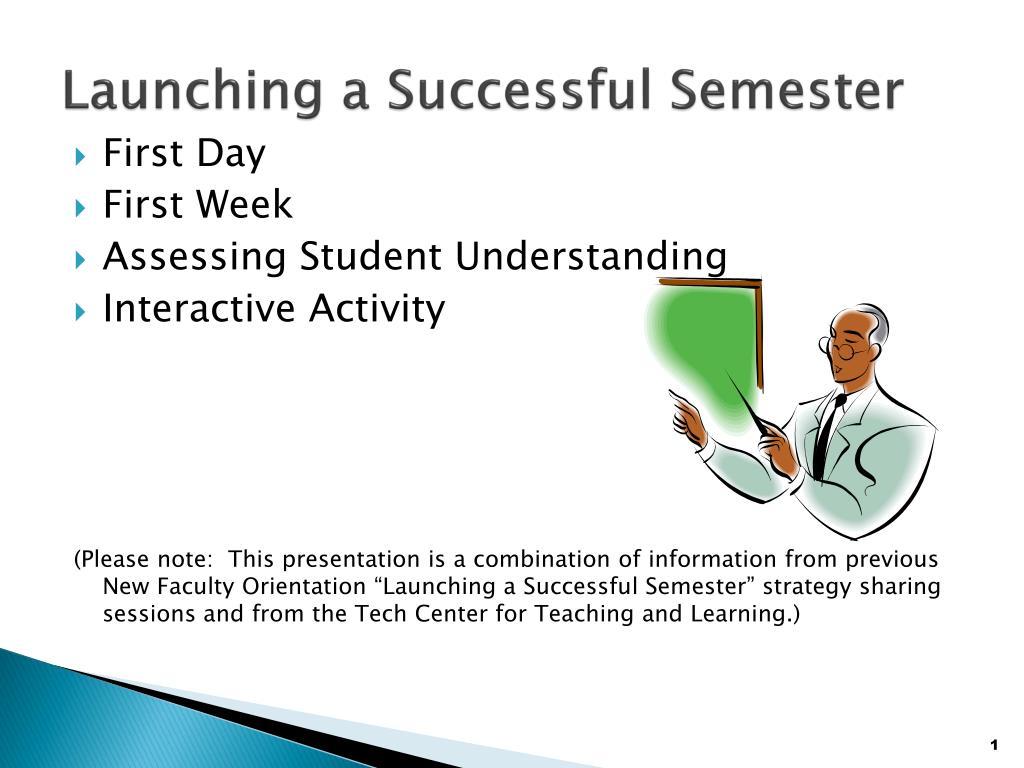 Launching a Successful Semester