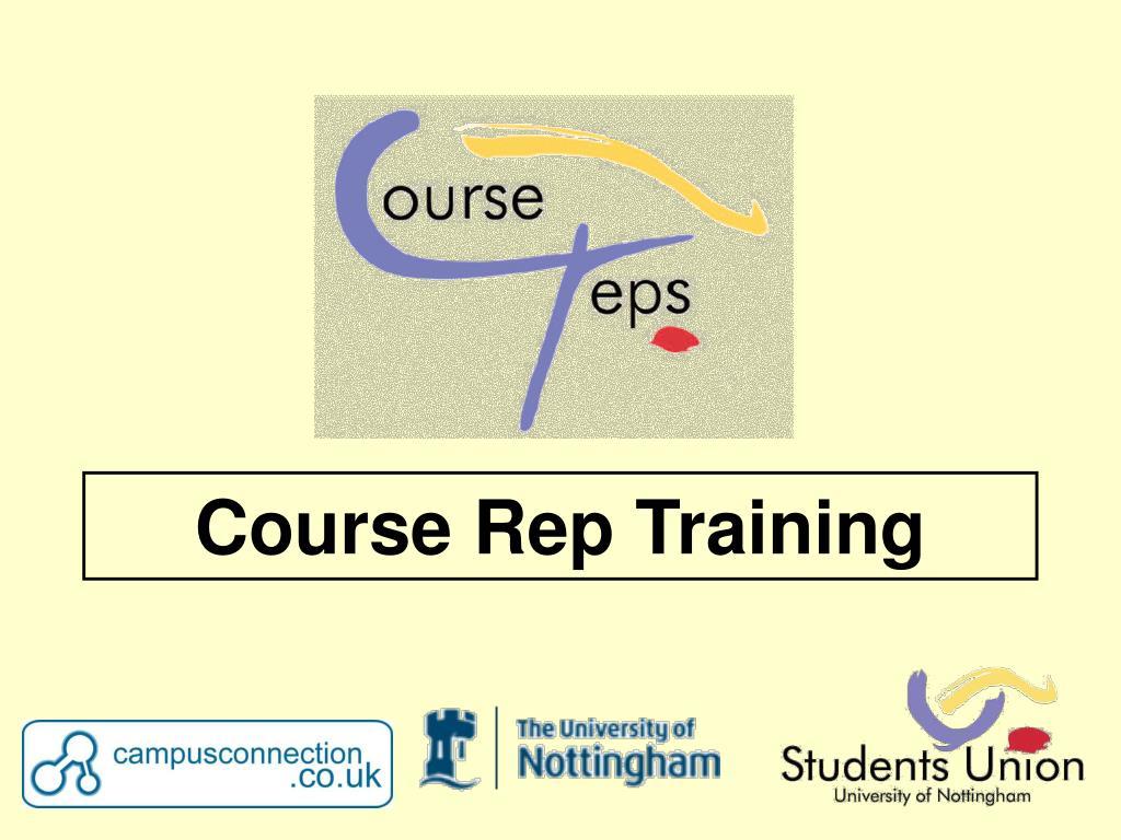 course rep training l.