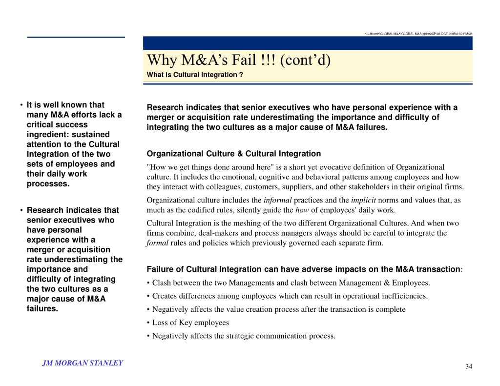 K:\Utkarsh\GLOBAL M&A\GLOBAL M&A.ppt\A2XP\03 OCT 2005\6:52 PM\35