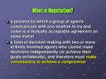 what is negotiation