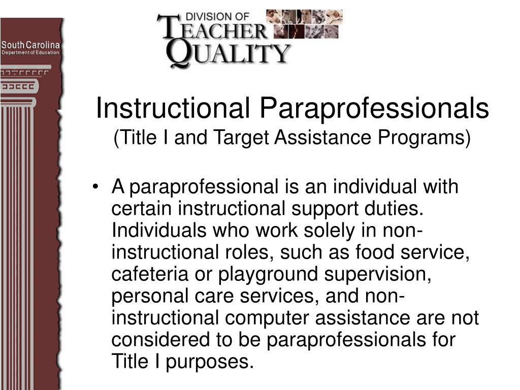 Instructional Paraprofessionals