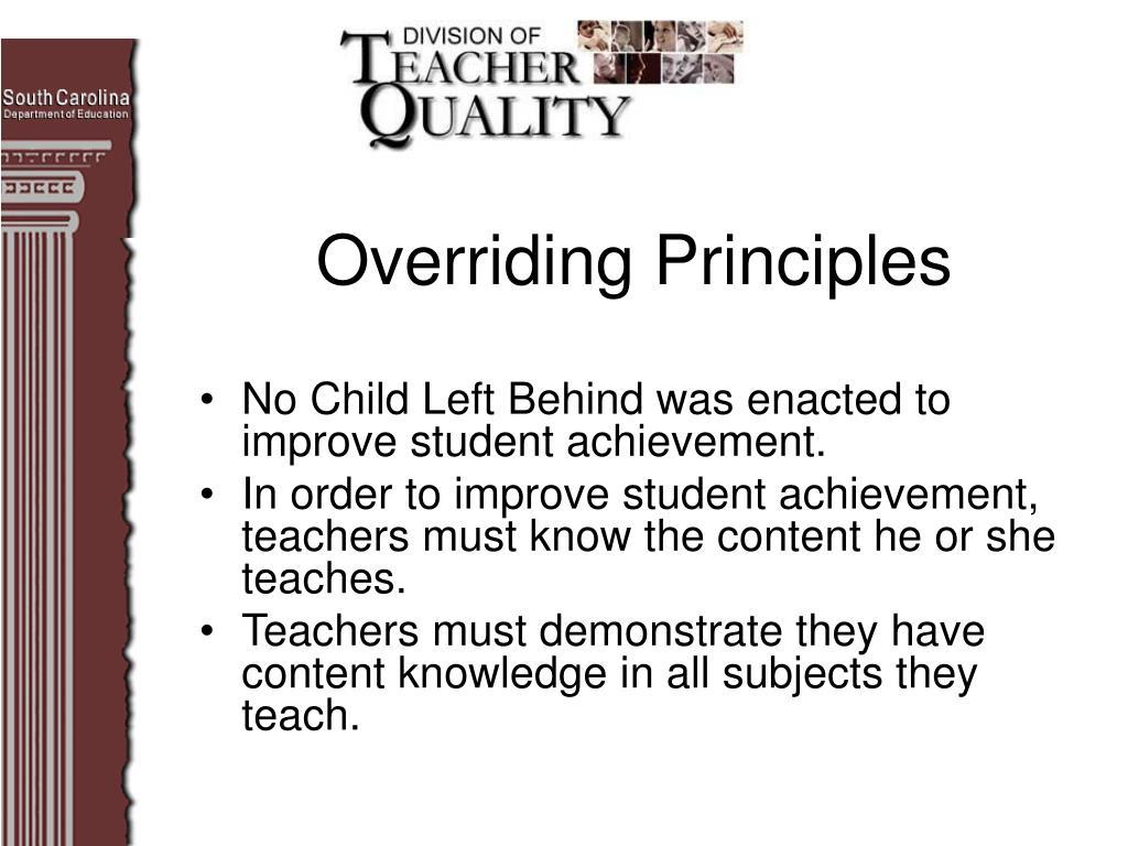 Overriding Principles