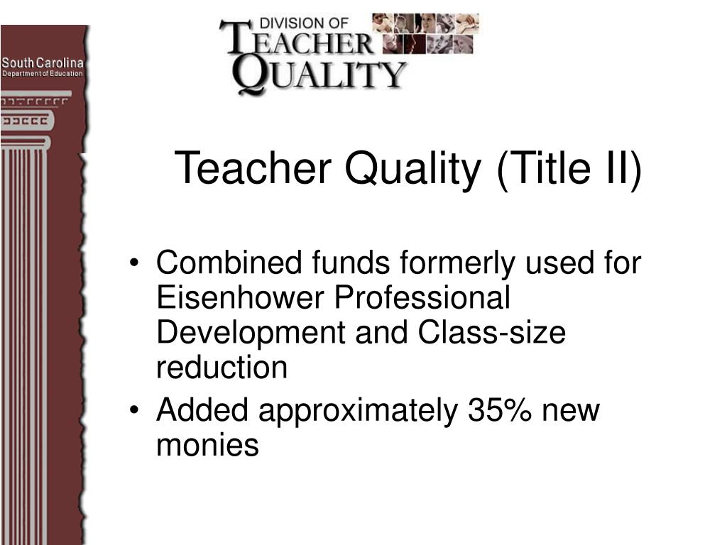 Teacher Quality (Title II)