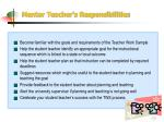 mentor teacher s responsibilities