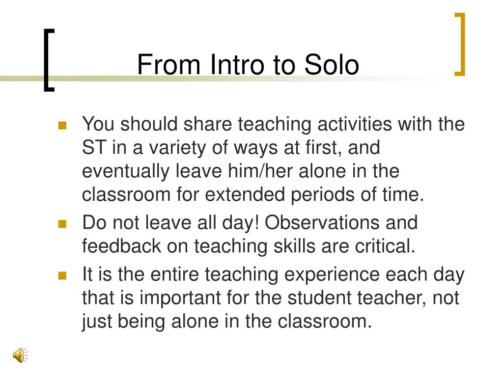 From Intro to Solo