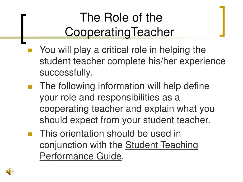The Role of the CooperatingTeacher