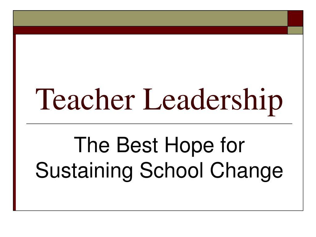 teacher leadership l.
