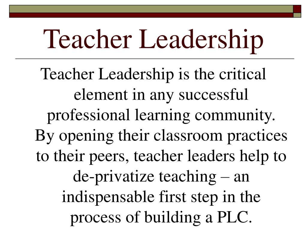 Teacher Leadership