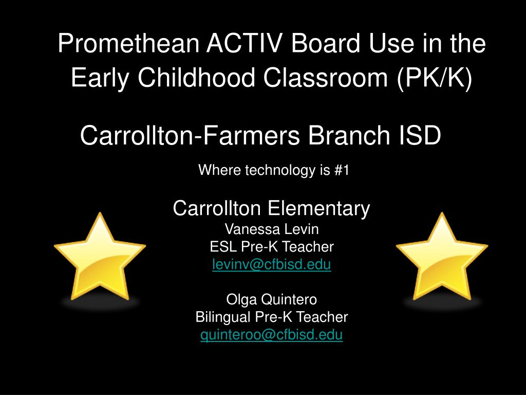 promethean activ board use in the early childhood classroom pk k l.