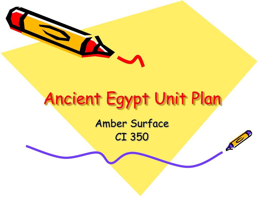 ancient egypt unit plan l.