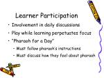 learner participation