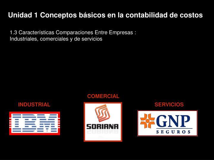 Unidad 1 Conceptos básicos en la contabilidad de costos
