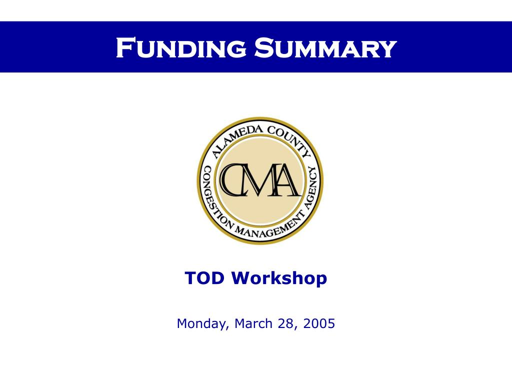 funding summary l.