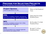 process for selecting projects state transportation improvement program stip
