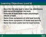 learning objectives cont d
