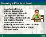 neurologic effects of lead