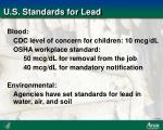 u s standards for lead